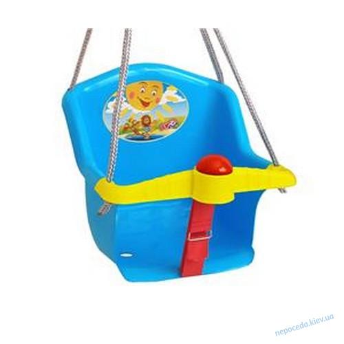 Детские качели пластиковые Солнышко-2 с барьером