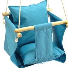 Дитяча гойдалка для будинку блакитна