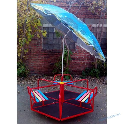Карусель детская с зонтом 6-местная