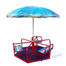 Карусель дитяча з парасолькою 6-місна