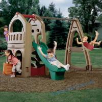 Детский игровой центр Playhouse Climber + Swing Extension