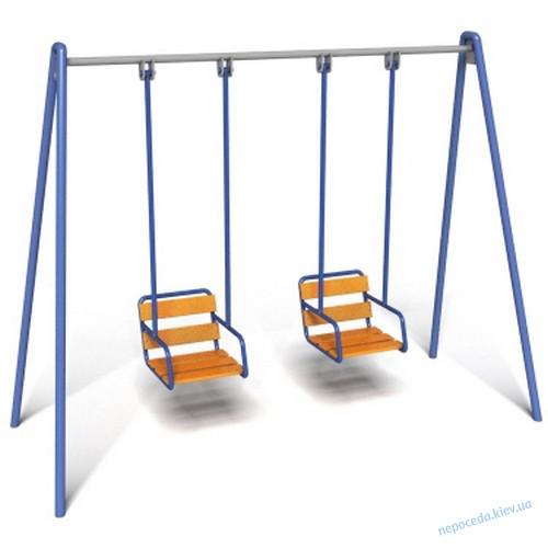 Двойные качели для детей Твист на жесткой подвеске