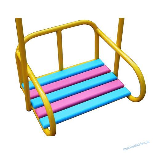 Детские качели уличные «Три сидения»