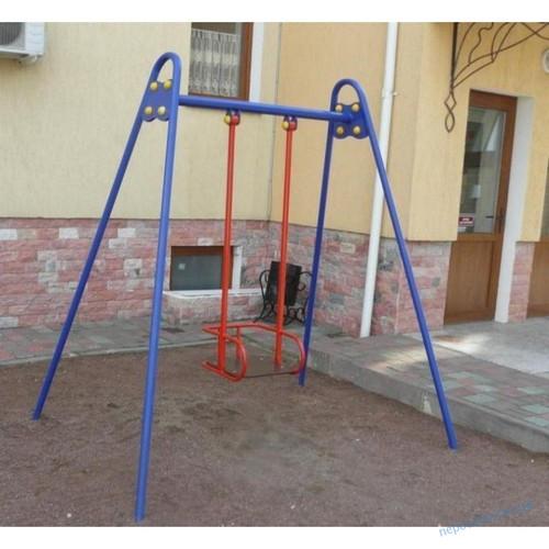 Детская качеля одинарная металлическая для улицы