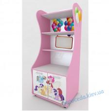 """Стеллаж """"Little Pony"""" для книг розовый."""