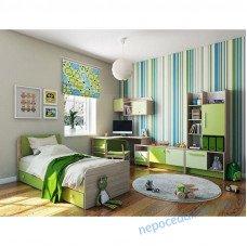 Детская комната Акварели зеленые для подростка