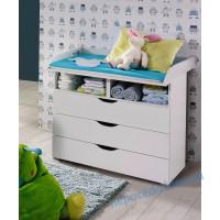 Комод пеленатор белого цвета в детскую комнату