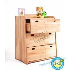 """Комод в детскую комнату """"Буковка"""" из натурального дерева"""
