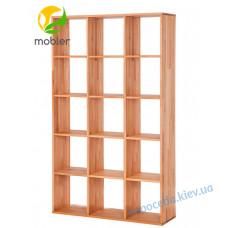 Книжная ПОЛКА без стенки из бука (КОД: K738)