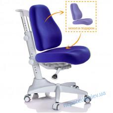 Кресло детское Mealux Match gray base синее