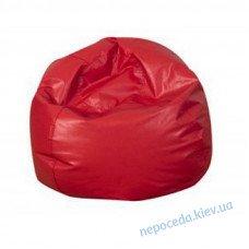 Кресло-мяч из кожзама красный для детей