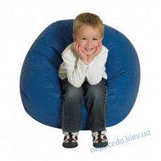 Кресло-мяч из кожзама синий