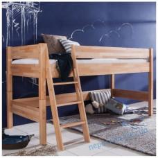 Детская кроватка чердак из бука с лестницей