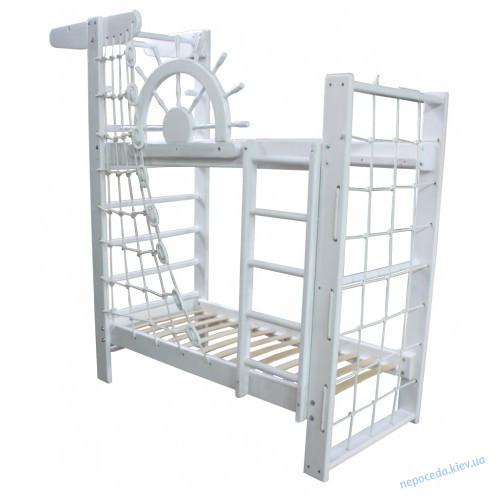 Спортивная двухъярусная кровать Пират Белый