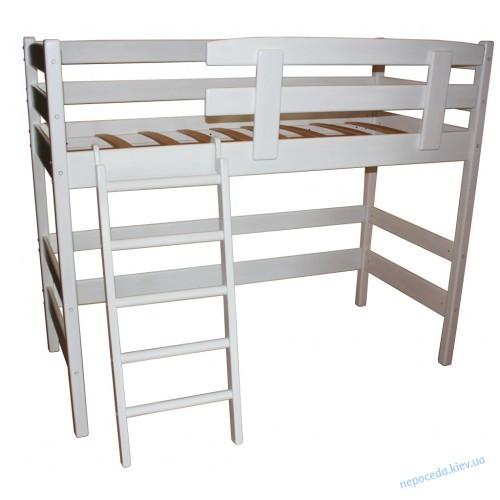Двухъярусная белая кровать из натурального дерева 170 или 200см