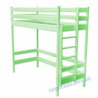 Кровать чердак 190х80см салатовая (из дерева)