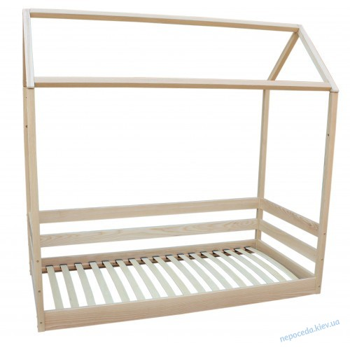 Детская кровать Домик из ясеня (длина 190см)