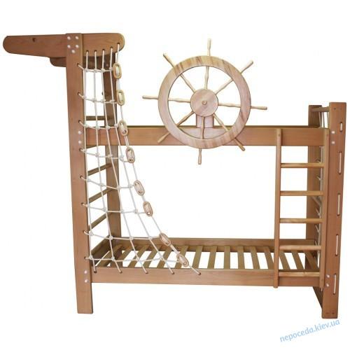 """Двухъярусная кровать """"Пират"""" БУК крутящийся штурвал"""