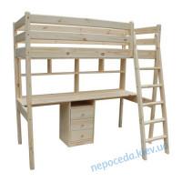 Кровать чердак с рабочей зоной Соло (подростку)