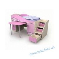 Кровать-чердак Pink Pn-40-1 для девочки