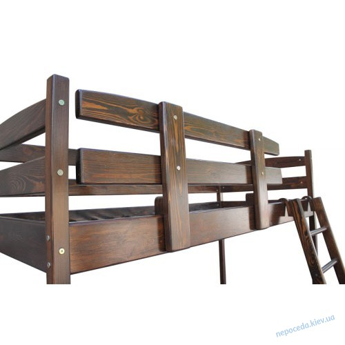 Кровать чердак Сновы коричневая 160-70см