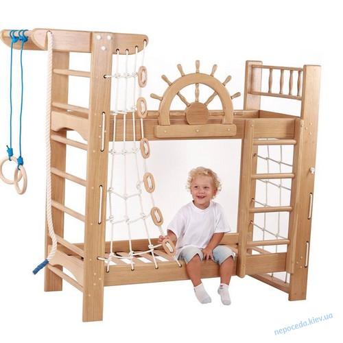 Детская кровать со спортивным уголком Пират про