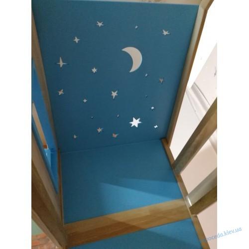 Детская двухъярусная кровать Домик Звездочета
