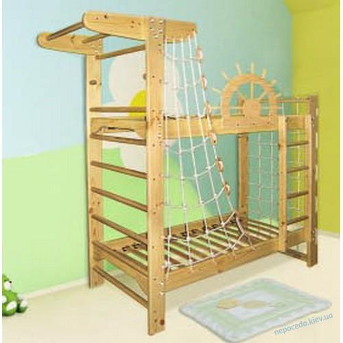 Ясень  Двухэтажная кровать для подростков + спортивный уголок
