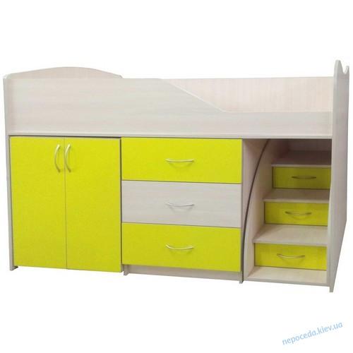 """Кровать-комната """"Бед-Рум 5"""" желтая"""