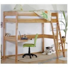 Кровать-чердак с лестницей и рабочим местом для подростков