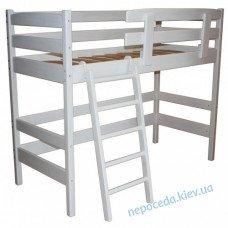Двох'ярусне біле ліжко з натурального дерева 170 або 200см