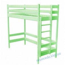 Ліжко горище 190х80см салатова (з дерева)