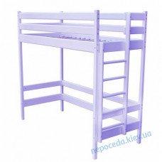 Ліжко горище для дівчинки бузкова (жовта, блакитна, салатова)