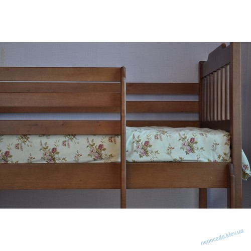 """Детская двyxъярycнaя кровать """"Ева"""" из ольхи"""