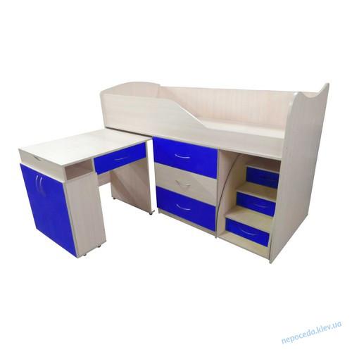 """Кровать-комната """"Бед-Рум 5"""" синяя"""