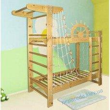 Ясень Двоповерхове ліжко для підлітків + спортивний куточок