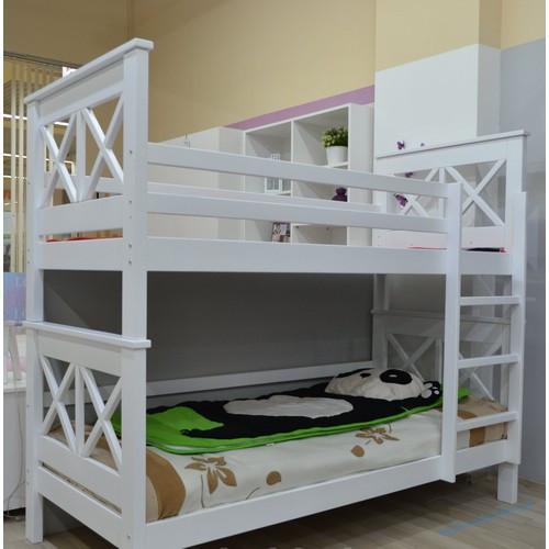Риа Кровать двухъярусная белая (дерево)