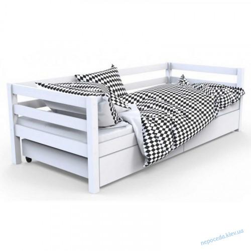 """Кровать детская с бортиком """"Валенсия"""" белая (дерево)"""