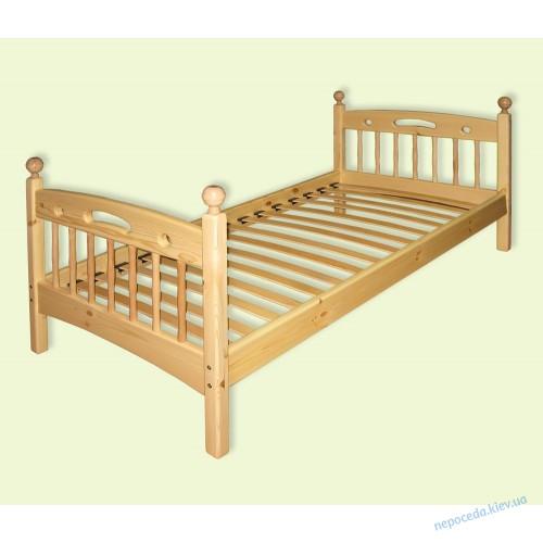 """Одноярусная кровать """"Классика"""" из дерева"""