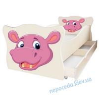 Кровать без ящиков Animal Бегемотик 70x140 cм детская