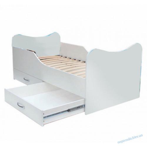 Белая кровать для детей (ДСП)