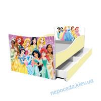 Одноярусная кровать детская Принцессы Disney длина - 174 см
