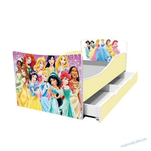 Одноярусная кровать детская Принцессы Disney