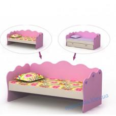 Ліжко диван Pink-11-3 для дівчинки