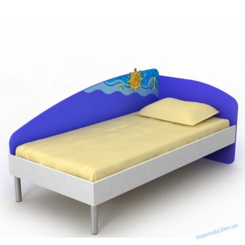 """Кровать с спинкой для детей """"Океан"""""""