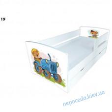 """Кровать для мальчика """"Мишка на тракторе"""" с ящиком"""