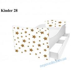 Детская кровать Звездочки 160*80см + ящики и бортик