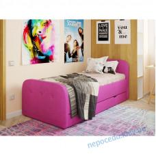 Детская кровать Teddy для девочки (цвет розовый) с обивкой
