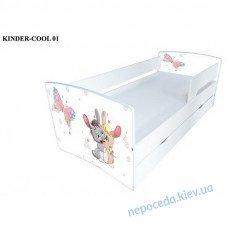 Детская кровать Kinder-Cool Зайки без ящика длина - 174 см