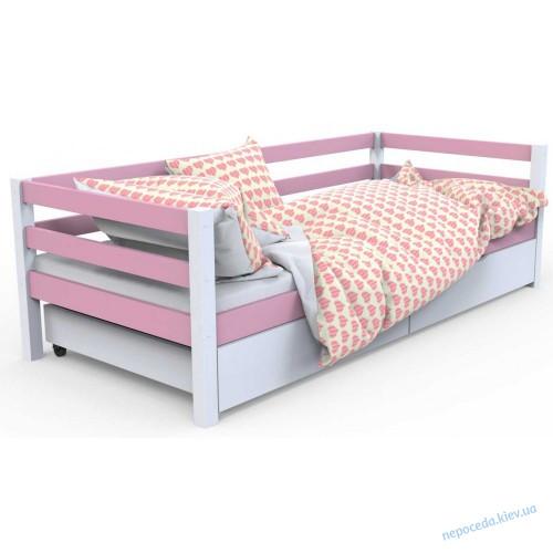 """Детская кровать """"Валенсия"""" голубая (дерево)"""